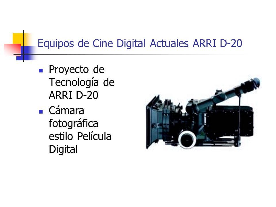 Equipos de Cine Digital Actuales ARRI D-20 Proyecto de Tecnología de ARRI D-20 Cámara fotográfica estilo Película Digital