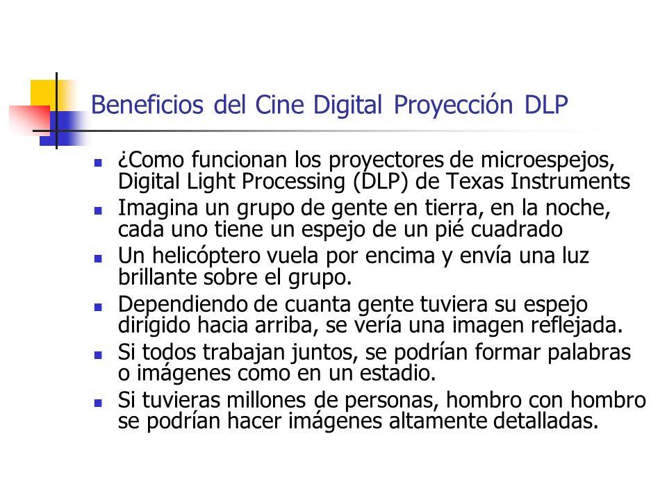 Beneficios del Cine Digital Proyección DLP ¿Como funcionan los proyectores de microespejos, Digital Light Processing (DLP) de Texas Instruments Imagin