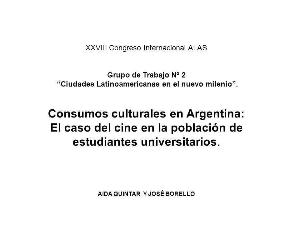 XXVIII Congreso Internacional ALAS Grupo de Trabajo Nº 2 Ciudades Latinoamericanas en el nuevo milenio.