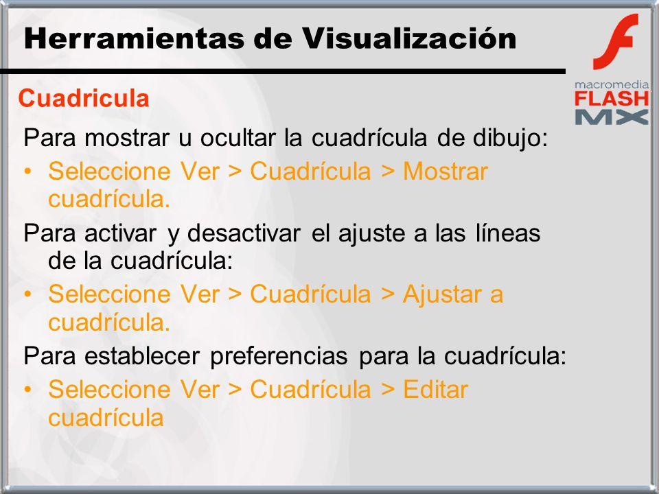 Cuadricula Para mostrar u ocultar la cuadrícula de dibujo: Seleccione Ver > Cuadrícula > Mostrar cuadrícula. Para activar y desactivar el ajuste a las