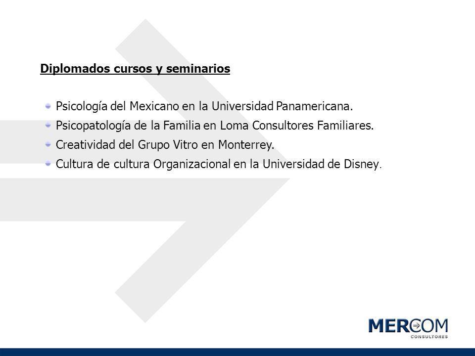 Diplomados cursos y seminarios Psicología del Mexicano en la Universidad Panamericana. Psicopatología de la Familia en Loma Consultores Familiares. Cr