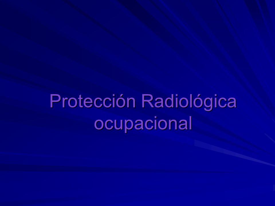 PROTECCIÓN RADIOLÓGICA OCUPACIONAL ORGANIZACIÓN DE LA RADIOPROTECCIÓN OCUPACIONAL Los principios generales que orientan la protección radiológica del personal ocupacionalmente expuesto tienden a mantener bajo control las situaciones de inevitable exposición crónica a las radiaciones.