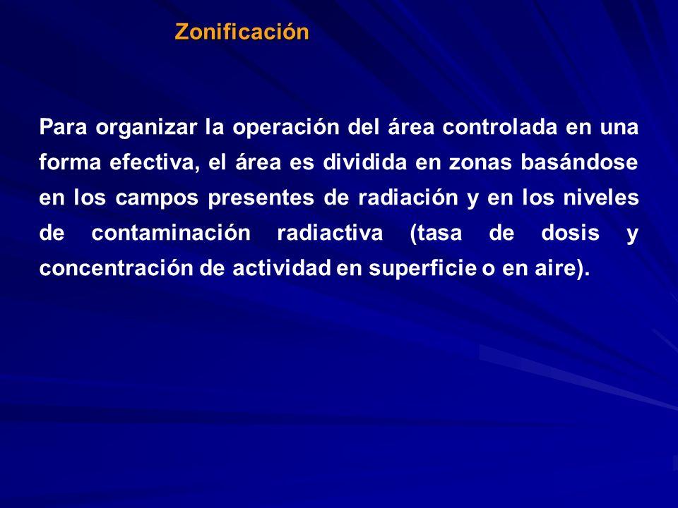Zonificación Para organizar la operación del área controlada en una forma efectiva, el área es dividida en zonas basándose en los campos presentes de