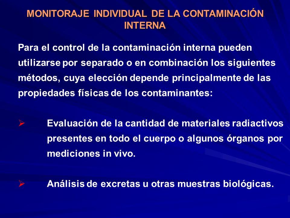 Para el control de la contaminación interna pueden utilizarse por separado o en combinación los siguientes métodos, cuya elección depende principalmen