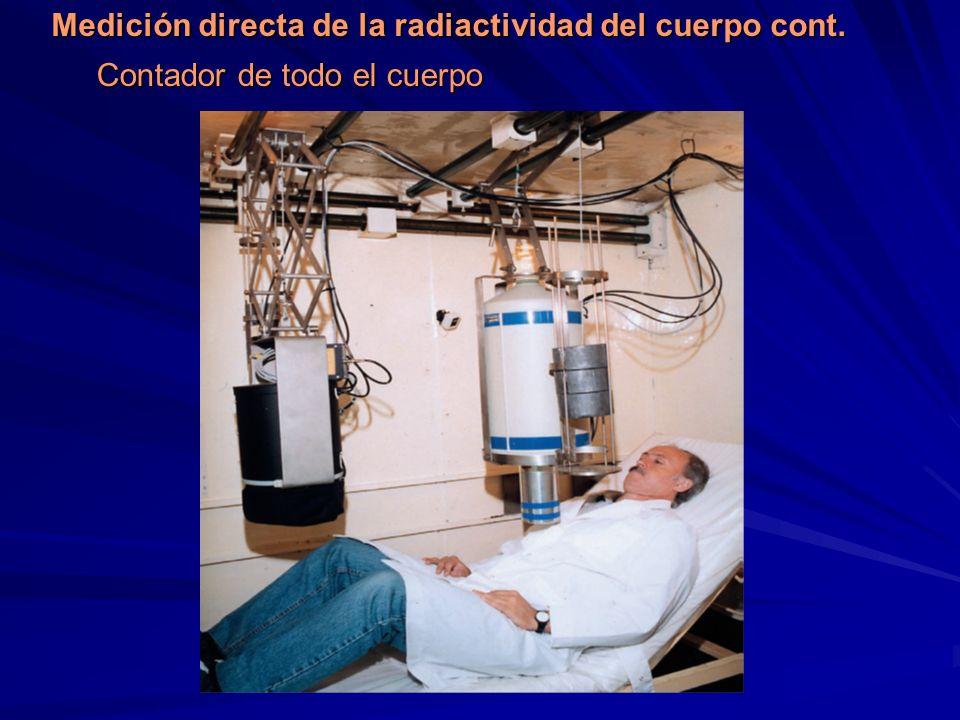 Contador de todo el cuerpo Medición directa de la radiactividad del cuerpo cont.