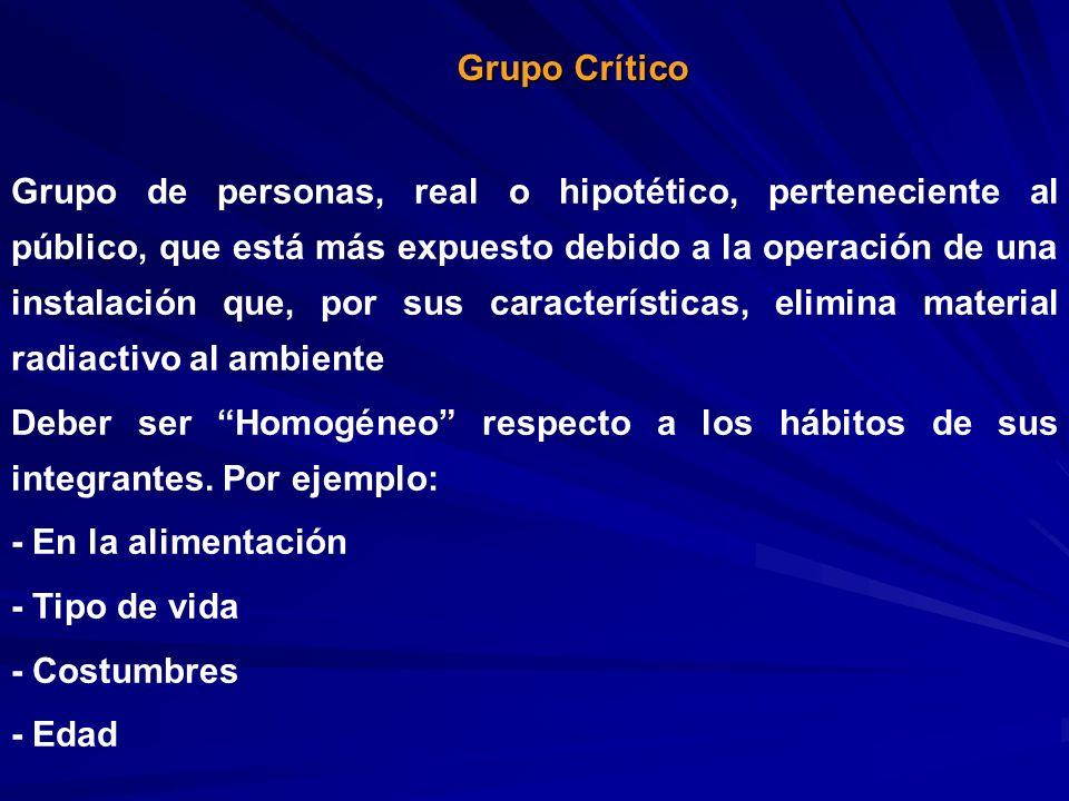 Grupo de personas, real o hipotético, perteneciente al público, que está más expuesto debido a la operación de una instalación que, por sus caracterís