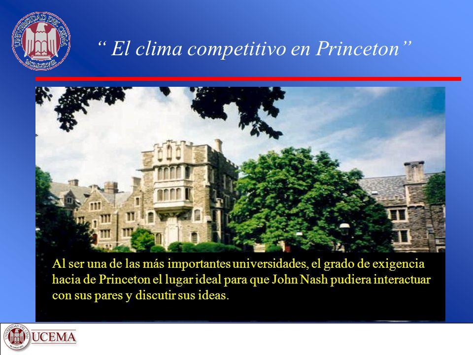 El clima competitivo en Princeton Al ser una de las más importantes universidades, el grado de exigencia hacia de Princeton el lugar ideal para que Jo
