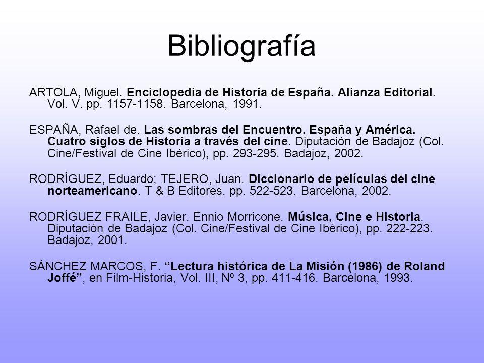 Bibliografía ARTOLA, Miguel. Enciclopedia de Historia de España. Alianza Editorial. Vol. V. pp. 1157-1158. Barcelona, 1991. ESPAÑA, Rafael de. Las som