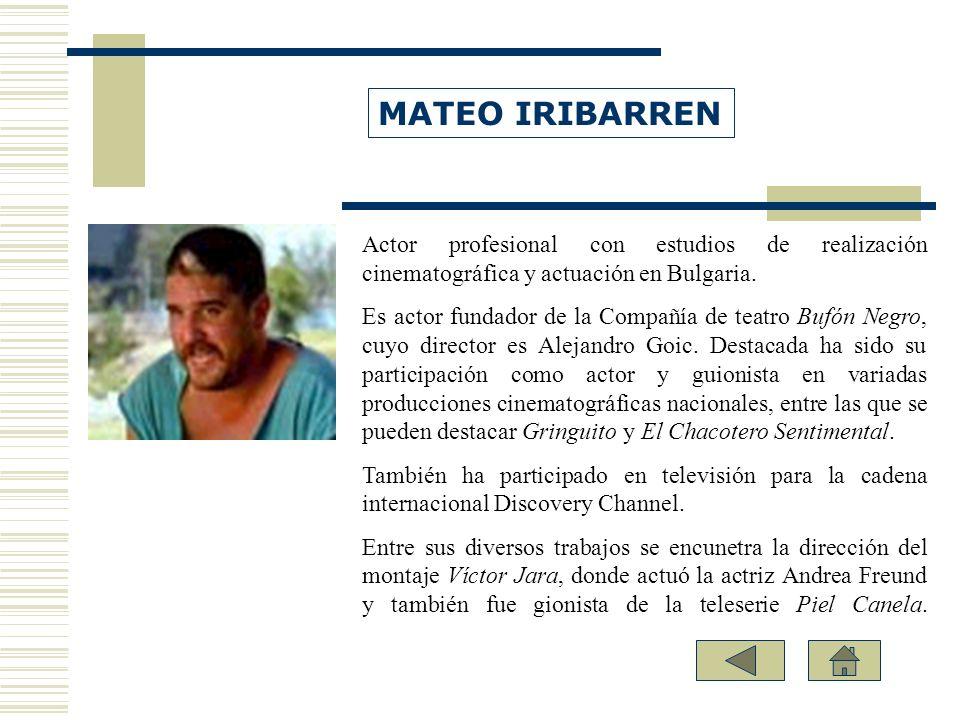 Actor profesional con estudios de realización cinematográfica y actuación en Bulgaria. Es actor fundador de la Compañía de teatro Bufón Negro, cuyo di