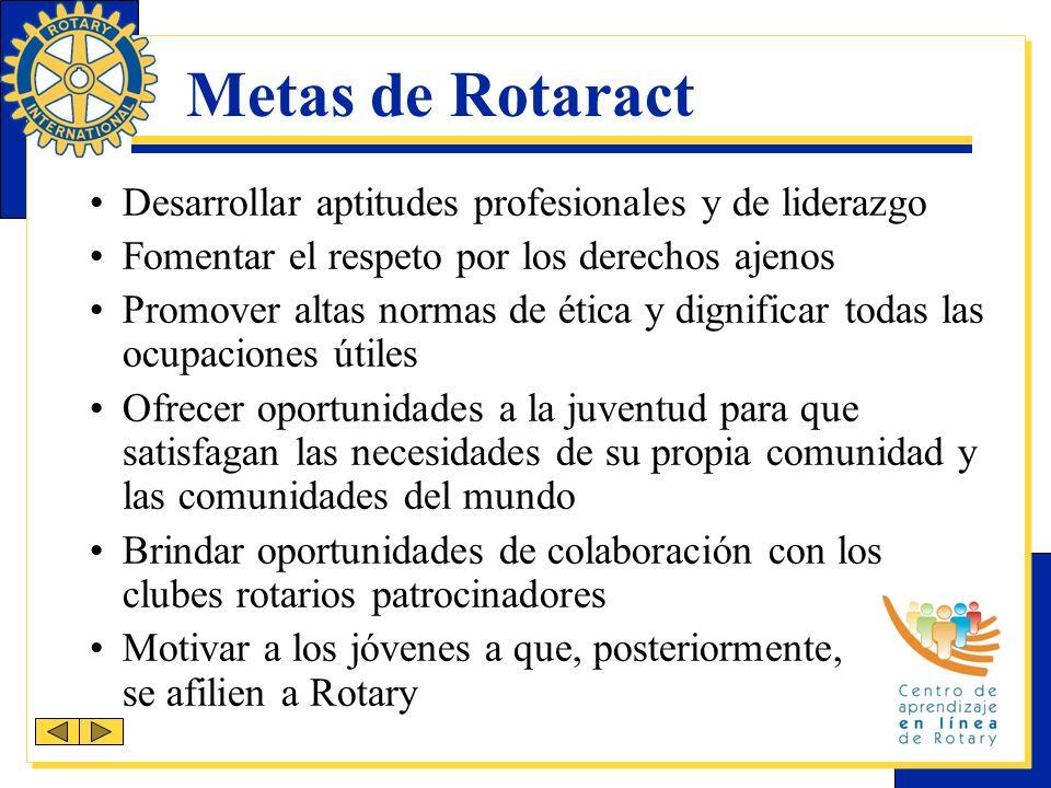 Parte de la familia de Rotary Los rotaractianos y los rotarios son colaboradores en el servicio.
