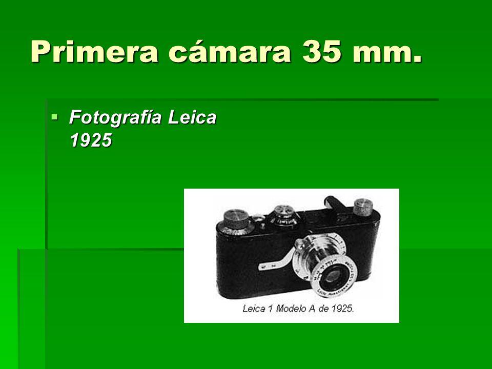 Primera cámara 35 mm. Fotografía Leica 1925 Fotografía Leica 1925