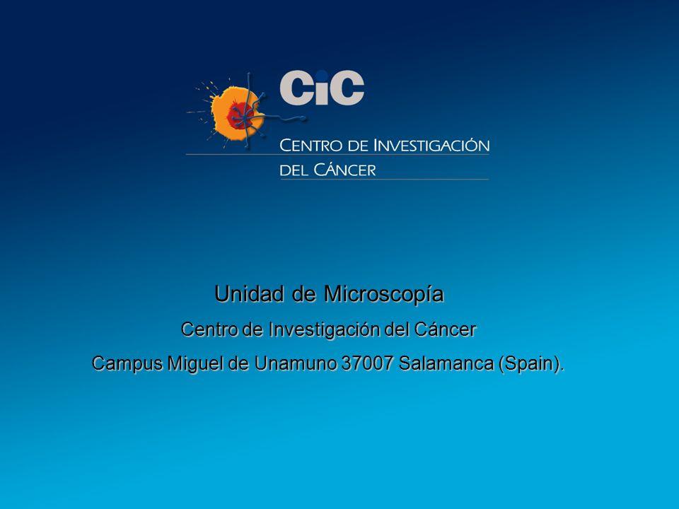 8 Unidad de Microscopía Centro de Investigación del Cáncer Campus Miguel de Unamuno 37007 Salamanca (Spain).