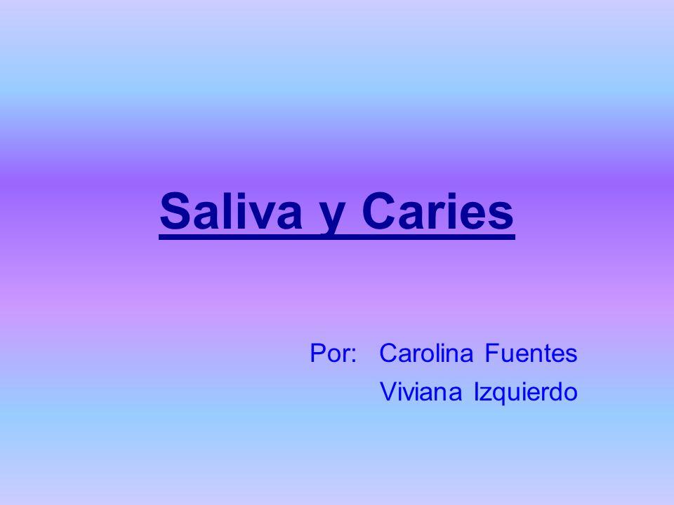 Saliva y Caries Por: Carolina Fuentes Viviana Izquierdo