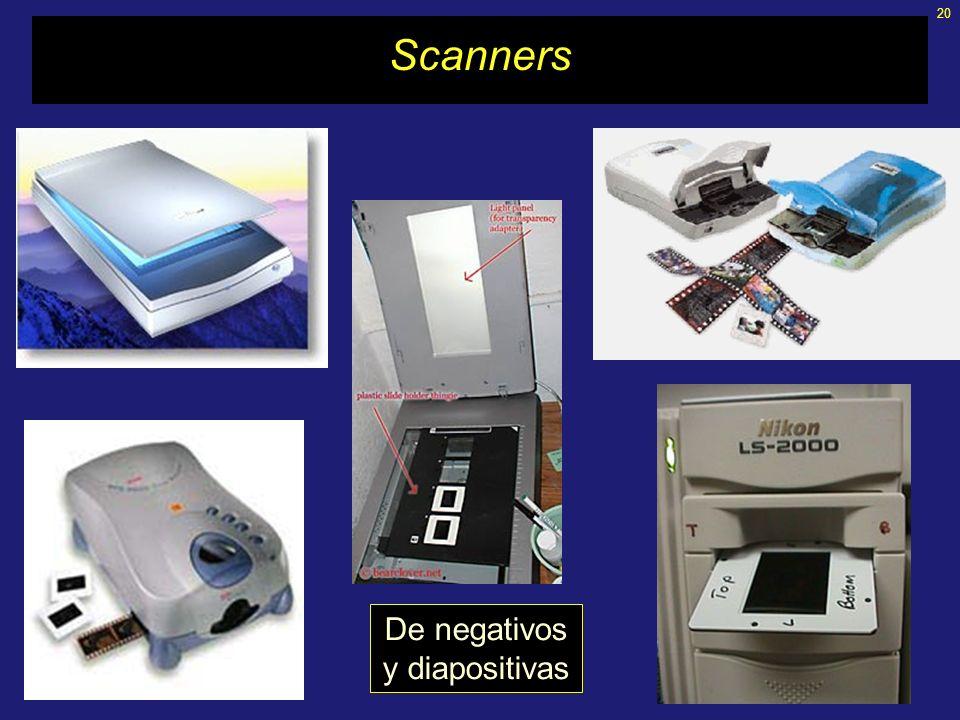 20 Scanners De negativos y diapositivas