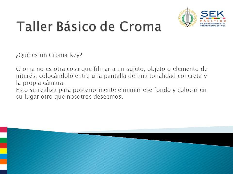 ¿Qué es un Croma Key.