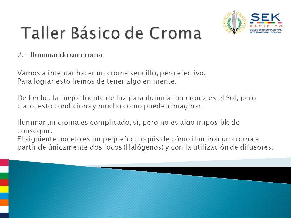 2.- Iluminando un croma: Vamos a intentar hacer un croma sencillo, pero efectivo. Para lograr esto hemos de tener algo en mente. De hecho, la mejor fu