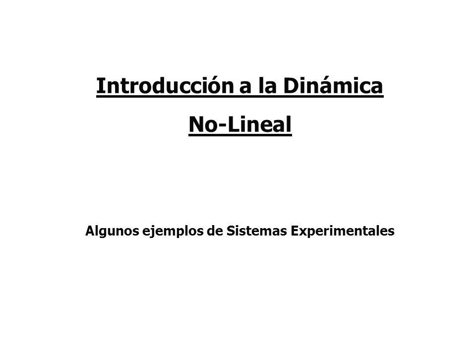 Introducción a la Dinámica No-Lineal Algunos ejemplos de Sistemas Experimentales