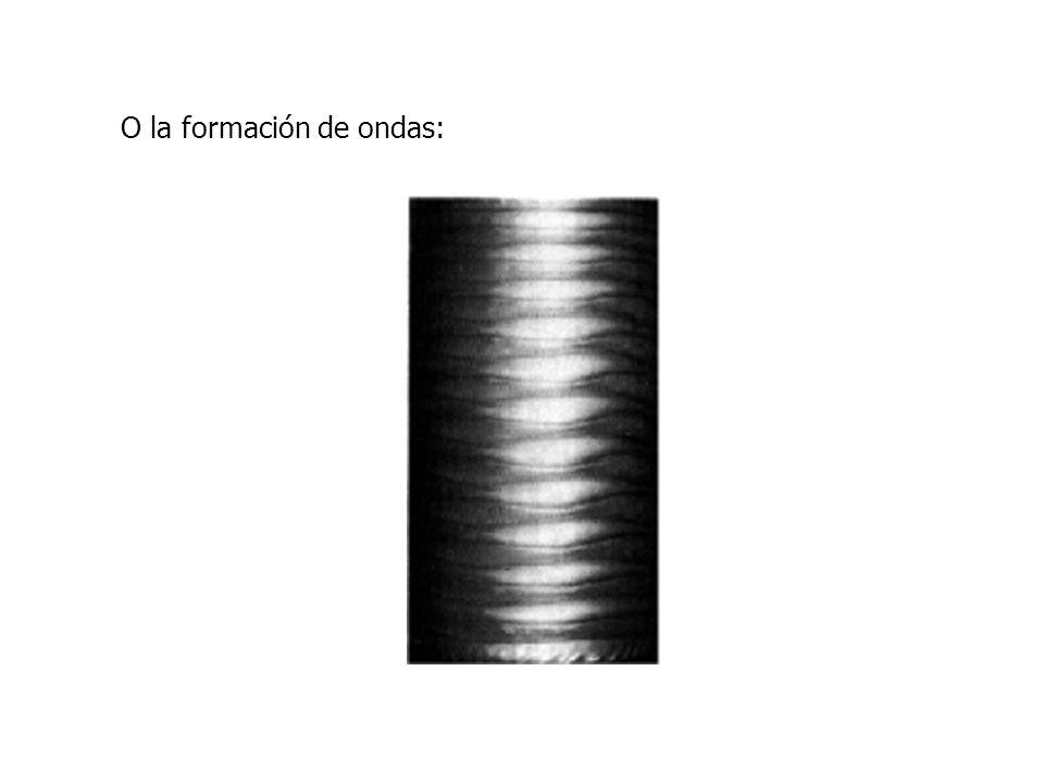 O la formación de ondas: