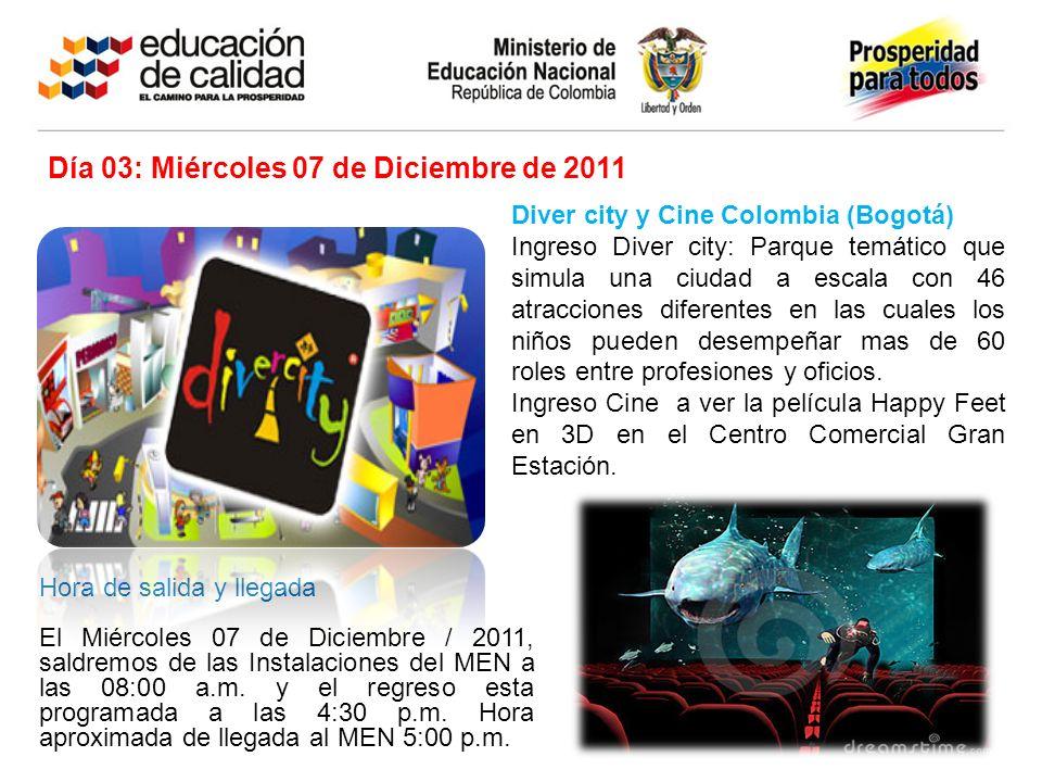 Diver city y Cine Colombia (Bogotá) Ingreso Diver city: Parque temático que simula una ciudad a escala con 46 atracciones diferentes en las cuales los