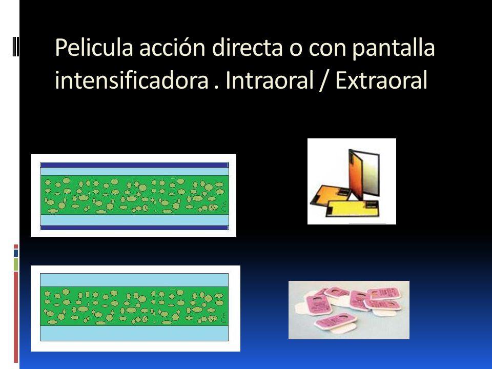 Pelicula acción directa o con pantalla intensificadora. Intraoral / Extraoral