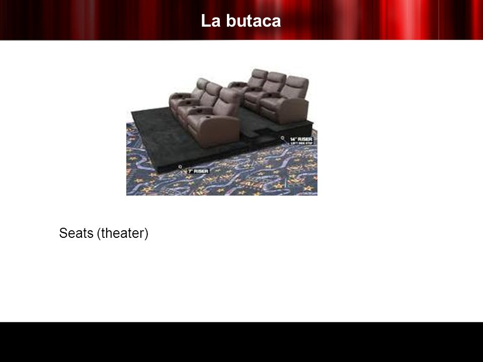 La butaca Seats (theater)