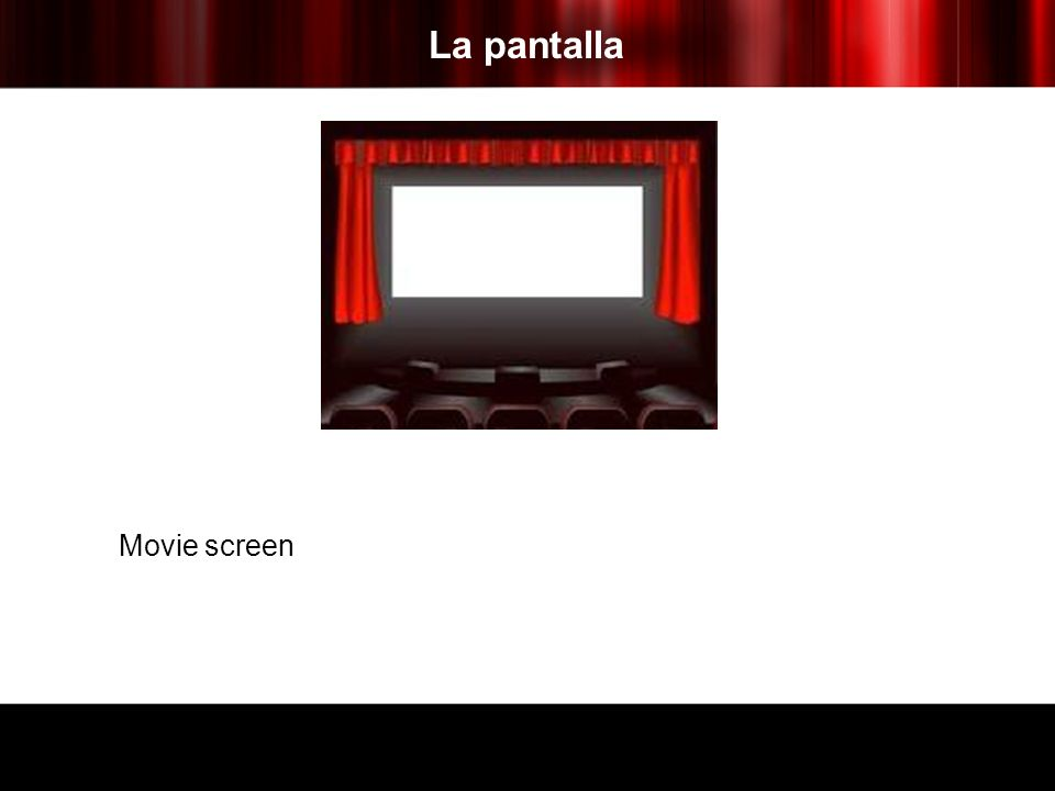 La pantalla Movie screen
