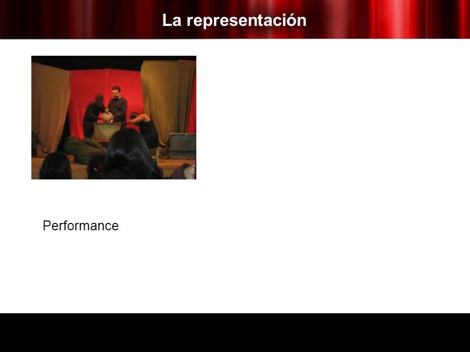 La representación Performance