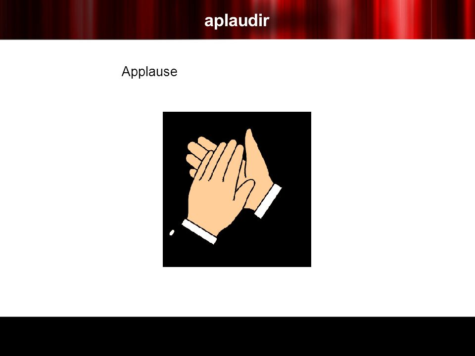 aplaudir Applause