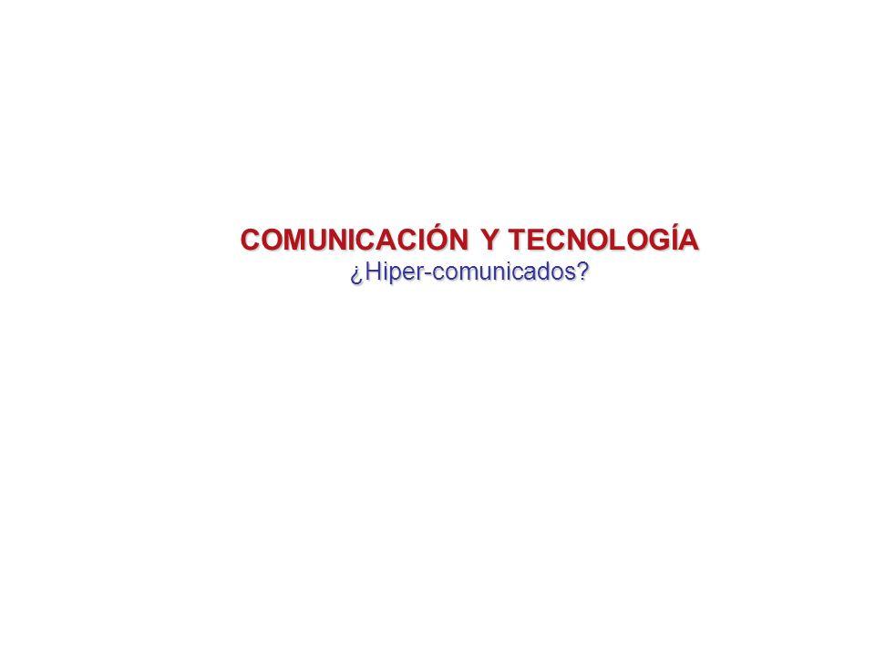 Información y Tecnología El poder de la información La velocidad y la cantidad de información generan internautas y televidentes aturdidos Este aturdimiento produce vulnerabilidad ¿PÉRDIDA DE LIBERTAD