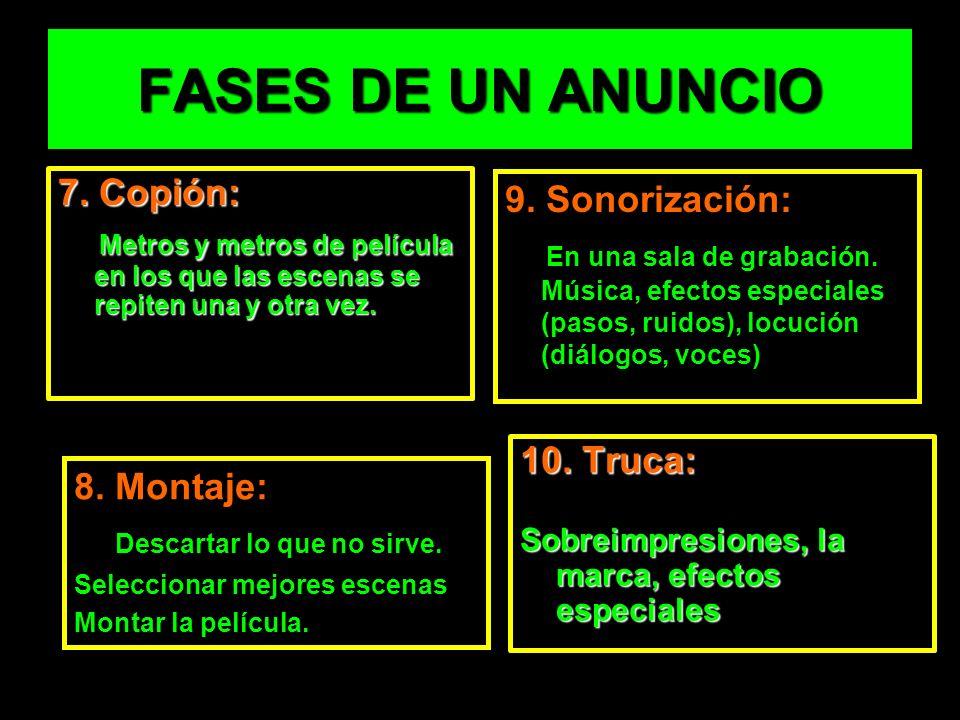 FASES DE UN ANUNCIO 7.