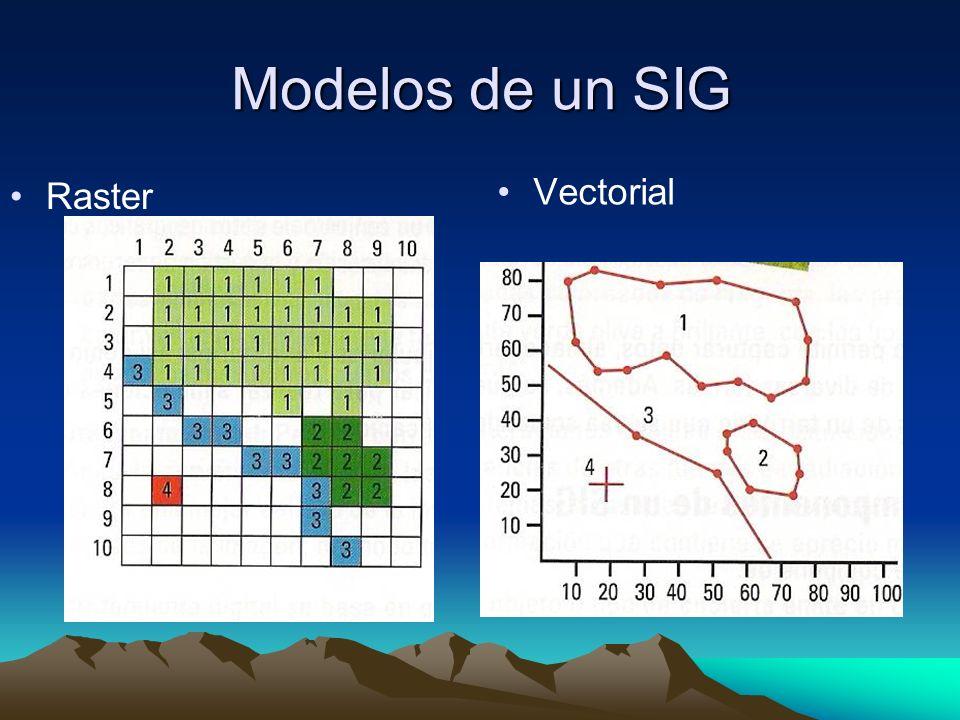 Modelos de un SIG Raster Vectorial