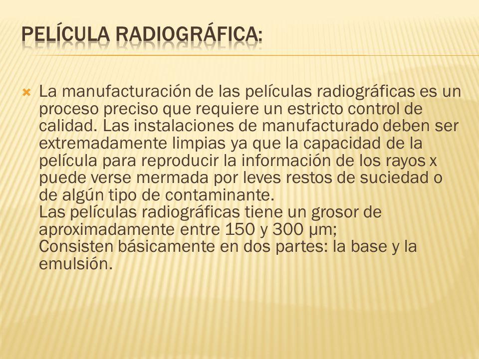 La manufacturación de las películas radiográficas es un proceso preciso que requiere un estricto control de calidad. Las instalaciones de manufacturad