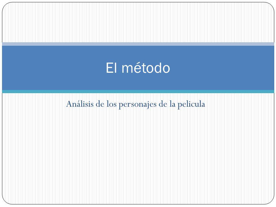 Análisis de los personajes de la pelicula El método