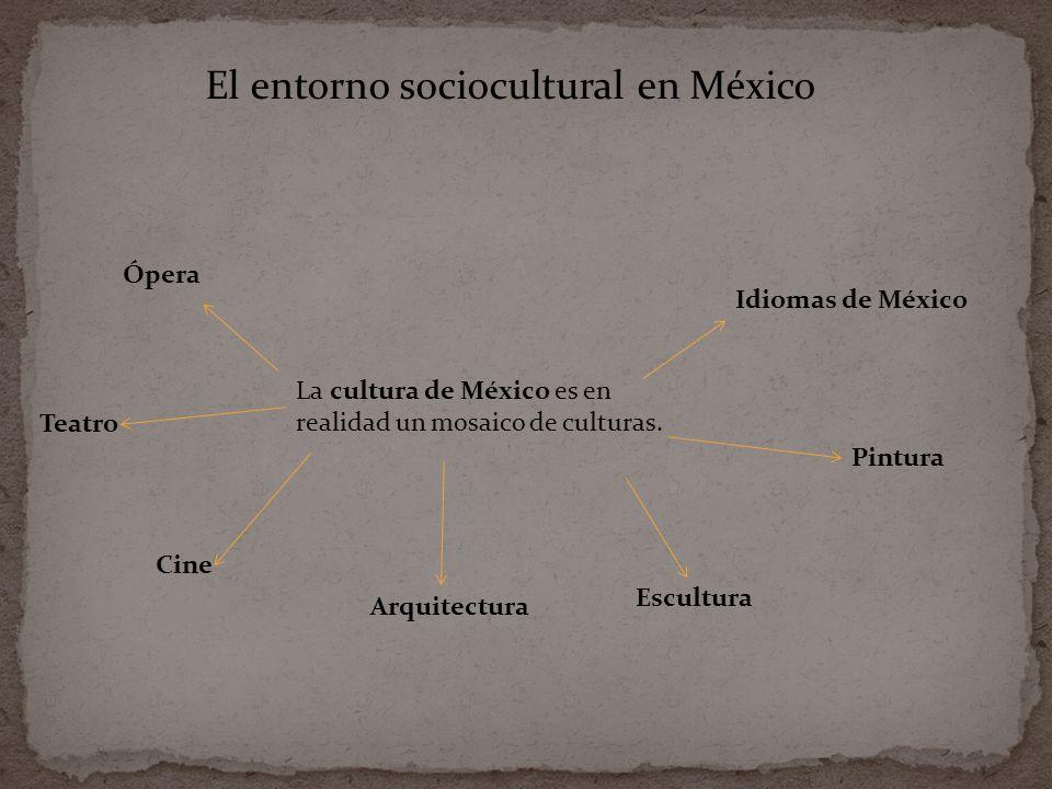 La cultura de México es en realidad un mosaico de culturas.