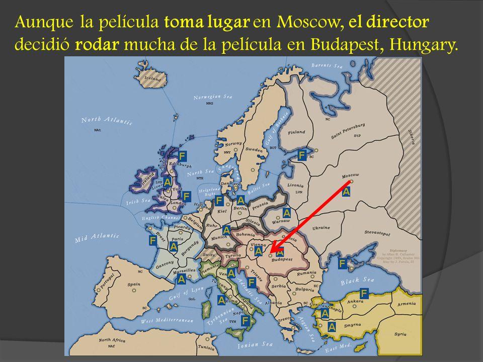 Aunque la película toma lugar en Moscow, el director decidió rodar mucha de la película en Budapest, Hungary.