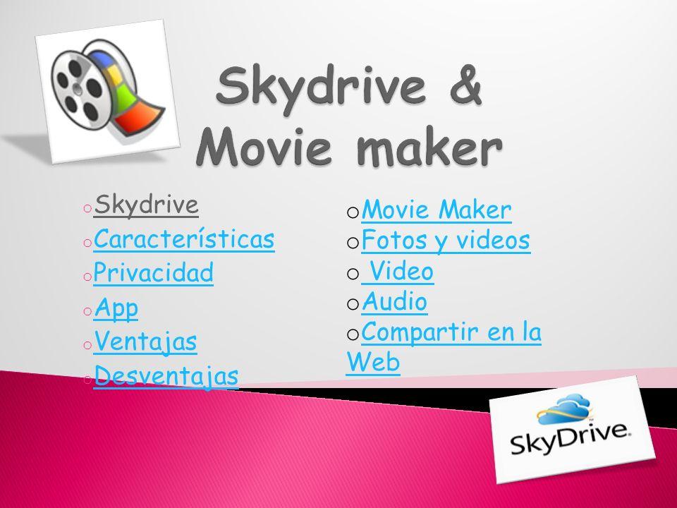 Office Web Apps Office Web Apps es parte de SkyDrive que permite a los usuarios cargar, crear, editar y compartir documentos de Microsoft Office directamente dentro de un navegador web.