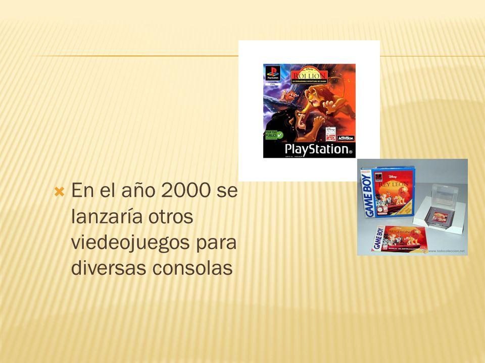 En el año 2000 se lanzaría otros viedeojuegos para diversas consolas