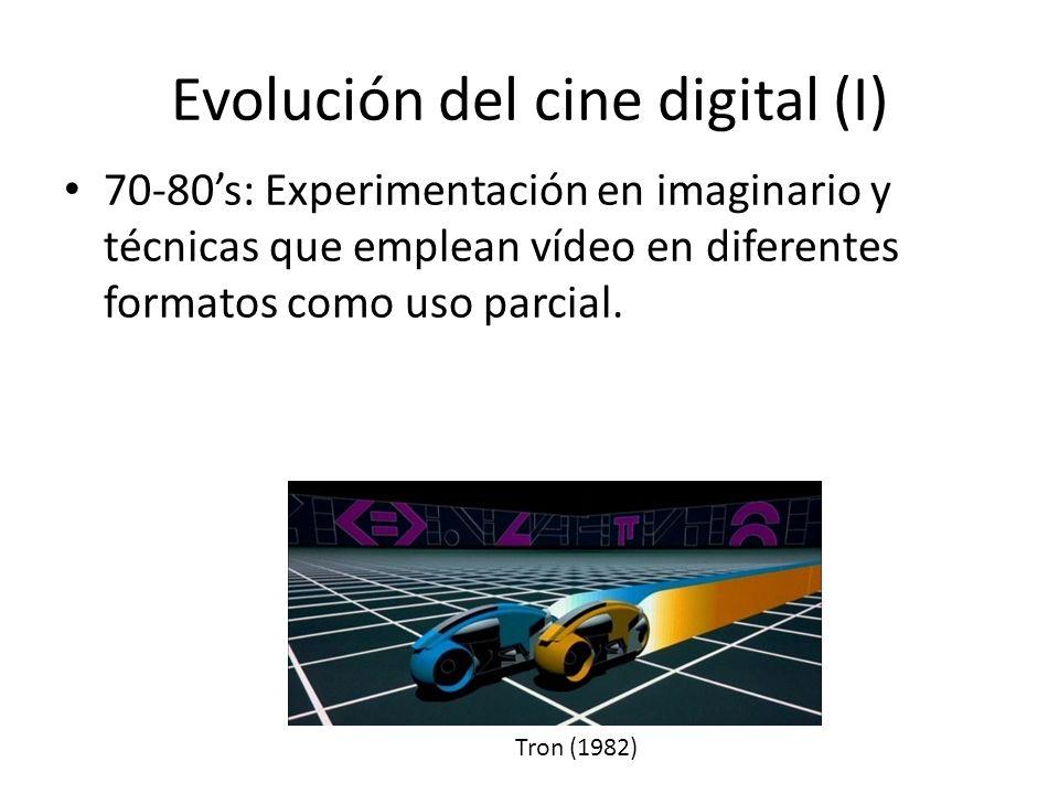 Evolución del cine digital (I) 70-80s: Experimentación en imaginario y técnicas que emplean vídeo en diferentes formatos como uso parcial.