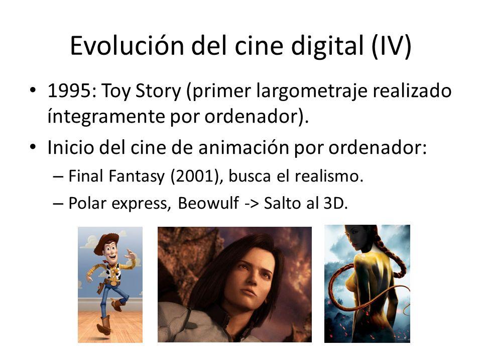 Evolución del cine digital (IV) 1995: Toy Story (primer largometraje realizado íntegramente por ordenador).