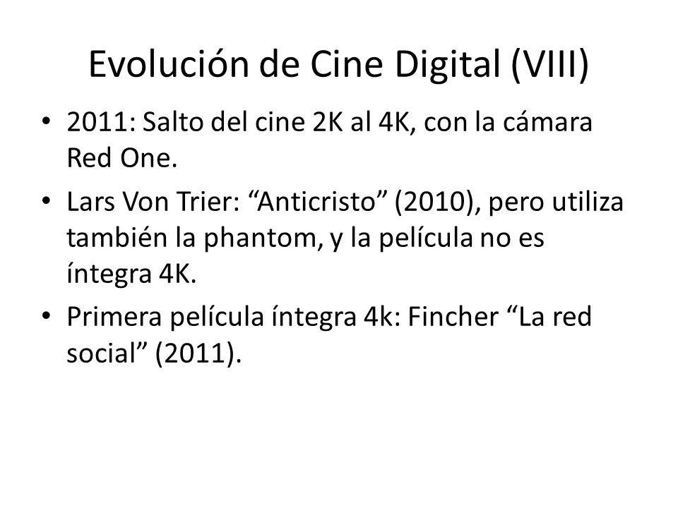 Evolución de Cine Digital (VIII) 2011: Salto del cine 2K al 4K, con la cámara Red One.