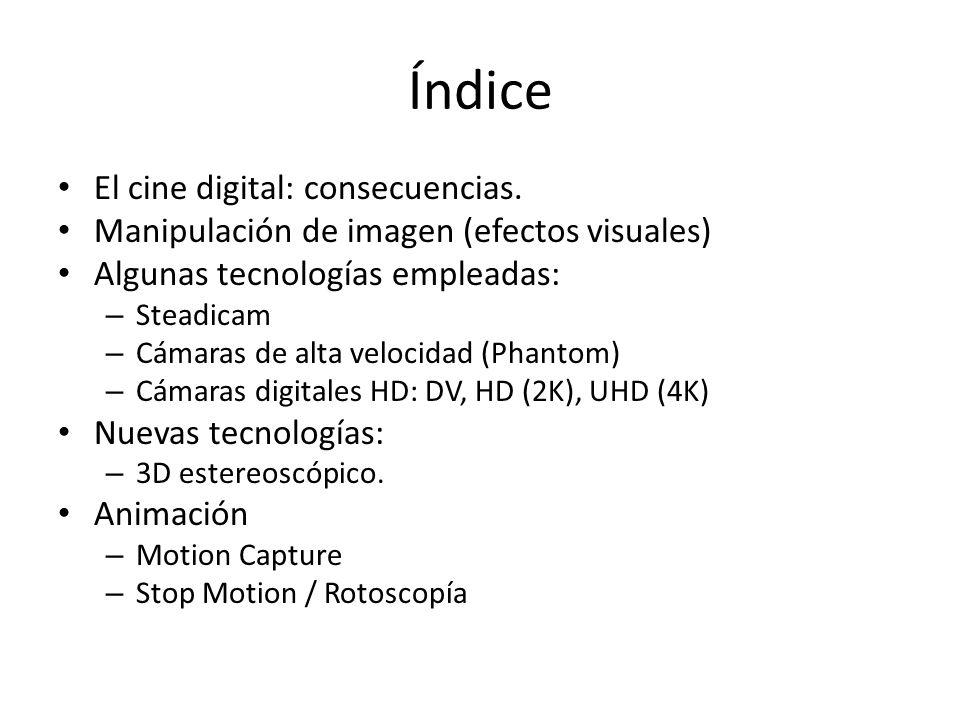Índice El cine digital: consecuencias.