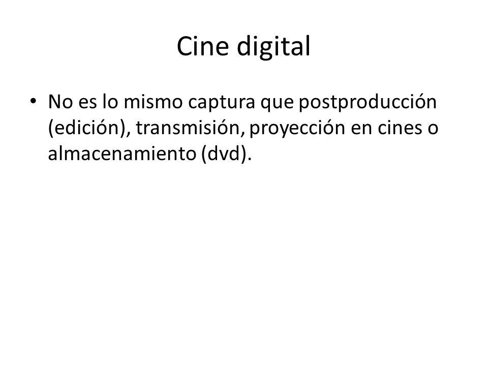 Esquema cine digital Rodaje ¿Cámara analógica o digital.