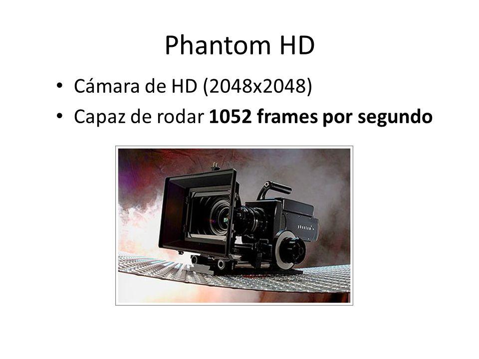 Phantom HD Cámara de HD (2048x2048) Capaz de rodar 1052 frames por segundo
