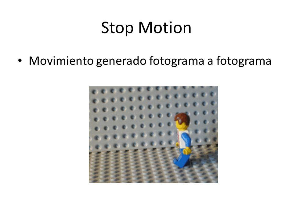 Stop Motion Movimiento generado fotograma a fotograma