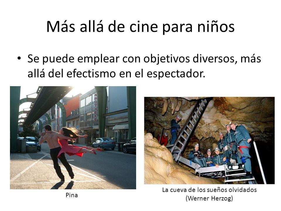Más allá de cine para niños Se puede emplear con objetivos diversos, más allá del efectismo en el espectador.