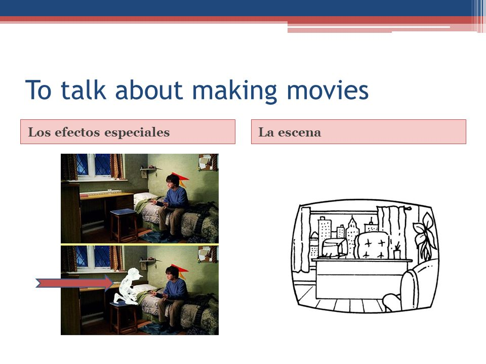 To talk about making movies Los efectos especialesLa escena