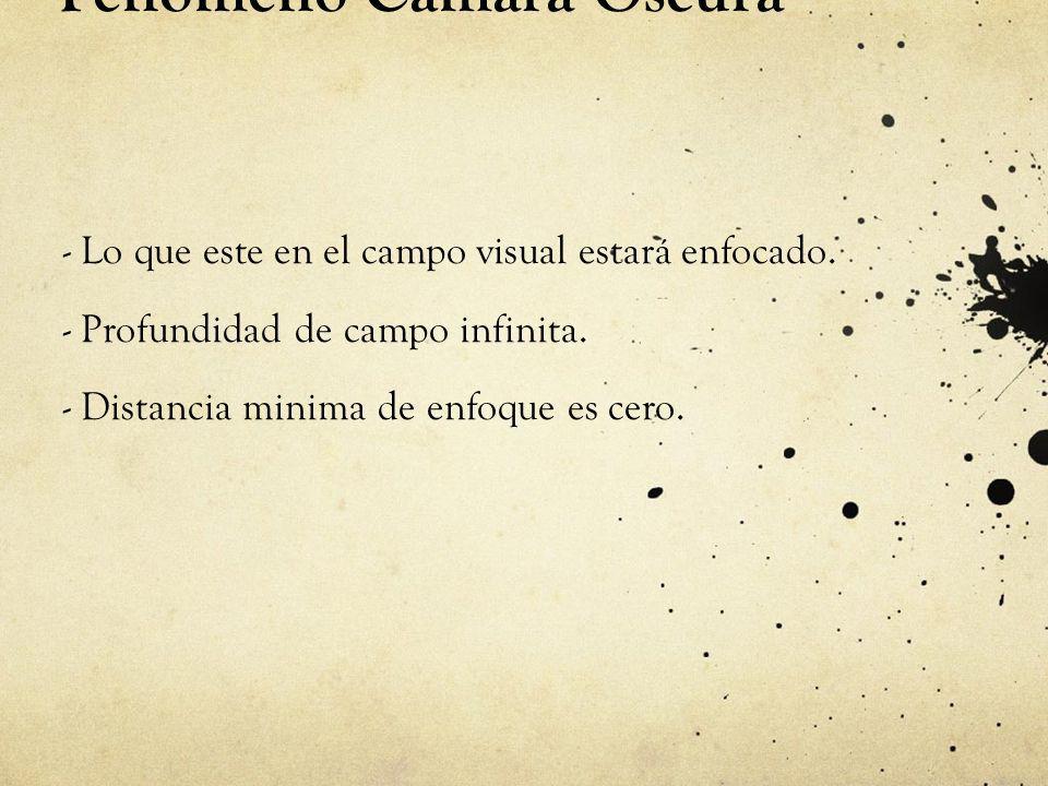 Cámara Estenopeica Encuadre: La cámara estenopeica nos invita a realizar la toma sin la disponibilidad de visor y por lo tanto de encuadre.