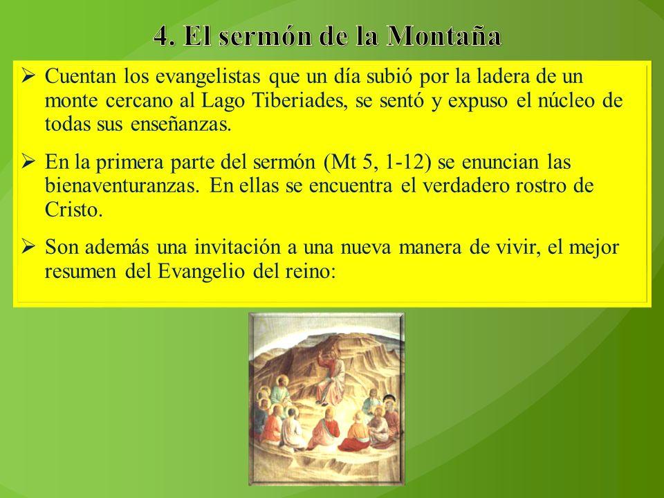 Cuentan los evangelistas que un día subió por la ladera de un monte cercano al Lago Tiberiades, se sentó y expuso el núcleo de todas sus enseñanzas. E