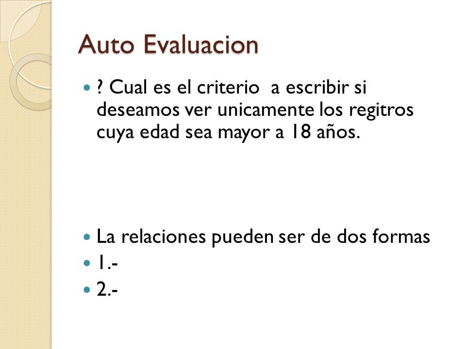 Auto Evaluacion .