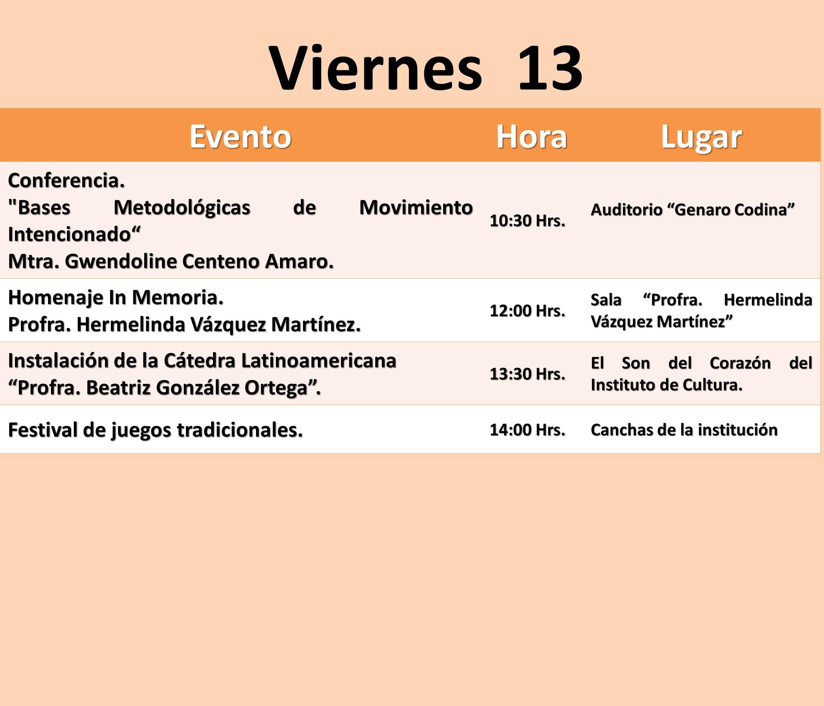 EventoHoraLugar Conferencia.